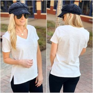 WON'T LET YOU DOWN V-NECK TEE